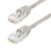 Monoprice Cat5e Ethernet Patch Cable - Snagless RJ45, Stranded, 350Mhz, UTP, Pure Bare Copper Wire, 24AWG, 3ft, Gray