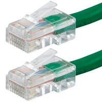 Monoprice Zeroboot Cat6 Ethernet Patch Cable - RJ45, Stranded, 550Mhz, UTP, Pure Bare Copper Wire, 24AWG, 0.5ft, Green