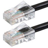 Monoprice Zeroboot Cat6 Ethernet Patch Cable - RJ45, Stranded, 550Mhz, UTP, Pure Bare Copper Wire, 24AWG, 7ft, Black