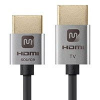 Monoprice Ultra Slim Series Active High Speed HDMI Cable - 4K @ 60Hz, 18Gbps, 36AWG, YUV 4:2:0, 3ft, Silver