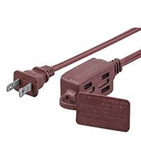 Monoprice 6FT 16/2 SPT-2 BROWN 3-OUTLET HOUSEHOLD EXTENSION CORD