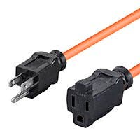 Monoprice Extension Cord - Outdoor NEMA 5-15P to NEMA 5-15R, 16AWG, 13A, 125V, 3-Prong, Orange, 25ft