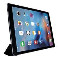 Piano Black and Leatherette Folio Case for iPad Pro