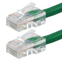 Monoprice Zeroboot Cat6 Ethernet Patch Cable - RJ45, Stranded, 550Mhz, UTP, Pure Bare Copper Wire, 24AWG, 75ft, Green