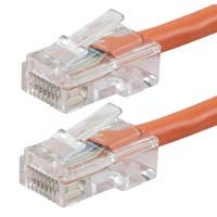 Monoprice Zeroboot Cat6 Ethernet Patch Cable - RJ45, Stranded, 550Mhz, UTP, Pure Bare Copper Wire, 24AWG, 25ft, Orange