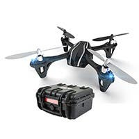 "Hubsan H107L: X4 Mini Quadcopter Drone Ready to Fly Kit with Weatherproof Hard Case 12"" x 10"" x 6"""