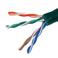 Monoprice Cat5e Ethernet Bulk Cable - Solid, 350Mhz, UTP, CMR, Riser Rated, Pure Bare Copper Wire, 24AWG, 1000ft, Green