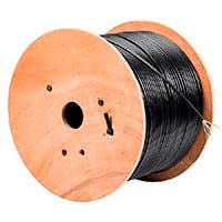 Monoprice Cat5e Ethernet Bulk Cable - Solid, 350Mhz, STP, Pure Bare Copper Wire, Outdoor, 24AWG, 1000ft, Black