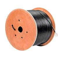 1000ft Cat6 Bulk Bare Copper UTP 23AWG Outdoor Gel-filled Direct Burial Cable, Black