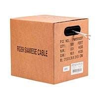 Monoprice 1000FT Bare Copper RG59 w/2x18AWG Power, White CM (Premium Bare Copper)