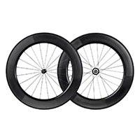 Monoprice 88mm Carbon Clincher Wheelset featuring Sapim CX-Ray Spokes