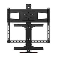 Monoprice Above Fireplace Pull-Down Full-Motion Articulating TV Wall Mount Bracket - For TVs 40in to 63in, Max Weight 70.5lbs, VESA Patterns Up to 600x400, Rotating , Height Adjustable