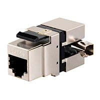 Monoprice Cat5e RJ-45 Fully Shielded 180-Degree Punch Down Keystone Jack