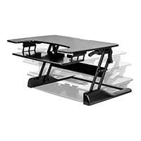 Sit-Stand Height Adjustable Desk 36, Black