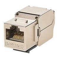 Monoprice Entegrade Series Cat6A RJ-45 180-Degree Shielded Die Cast Keystone, Slim Type, Black