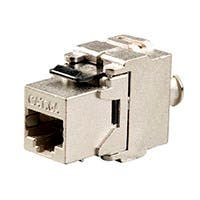 Monoprice Entegrade Series Cat6A RJ-45 FTP Toolless 180-Degree Die Cast Shielded Keystone, Black