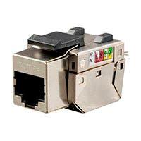 Monoprice Cat5e RJ-45 FTP 90-Degree Shielded Keystone, 110 IDC, Black