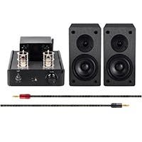 Tube Amp System with Bluetooth 15-watt Compact Stereo Hybrid with 4-inch Select Speakers