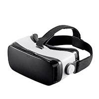 MP VR Viewer Mobile 3D HMD with IPD Adjustment - Compatible with phones up to 6 in, White