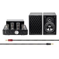 Monoprice Tube Amp System with Bluetooth 50-watt Stereo Hybrid with Retro Speakers