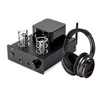 Stereo Tube Headphone Amp with USB DAC and Noise Cancelling Headphones