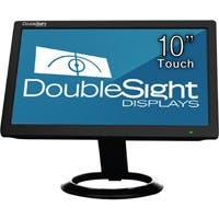 "DoubleSight Displays 10"" USB LCD Monitor with Touch Screen TAA - 1024 x 600 - WSVGA - Adjustable Display Angle - 262,000 Colors - 500:1 - 200 Nit - USB - Black - 3 Year"