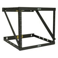 Tripp Lite Wall Mount 2-Post Open Frame Rack Cabinet 8U / 14U / 22U - Wall Mountable - Black - Steel - 150 lb x Maximum Weight Capacity