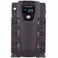 CyberPower Intelligent LCD CP600LCD 600 VA Desktop UPS - 600VA/340W - 2 Minute Full Load - 4 x NEMA 5-15R - Battery/Surge-protected, 4 x NEMA 5-15R - Surge-protected