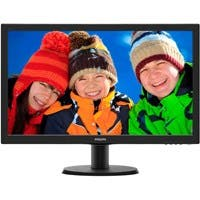 "Philips V-line 243V5LSB 23.6"" LED LCD Monitor - 16:9 - 5 ms - 1920 x 1080 - 16.7 Million Colors - 250 Nit - 10,000,000:1 - DVI - VGA"