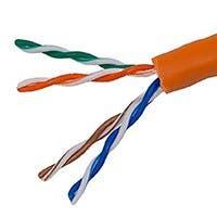 Monoprice 1000FT Cat5e Bulk Bare Copper Ethernet Cable, UTP, Solid, Riser Rated (CMR), 24AWG, Orange, Generic