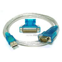Monoprice USB to RS232 DB9 Male and DB25 Male Serial Converter Cable