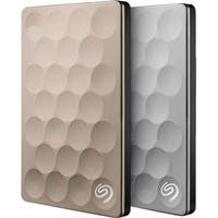 Seagate Backup Plus Ultra Slim STEH1000100 1 TB External Hard Drive - USB 3.0 - Portable - Platinum