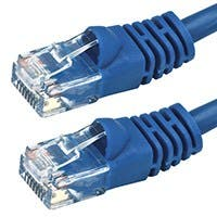 Monoprice Cat6 Ethernet Patch Cable - Snagless RJ45, Stranded, 550Mhz, UTP, Pure Bare Copper Wire, 24AWG, 7ft, Blue