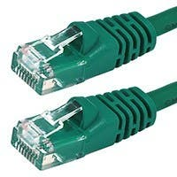 Monoprice Cat5e Ethernet Patch Cable - Snagless RJ45, Stranded, 350Mhz, UTP, Pure Bare Copper Wire, 24AWG, 100ft, Green