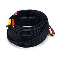 Monoprice RCA Coaxial Composite Video and Stereo Audio Cable, 50ft