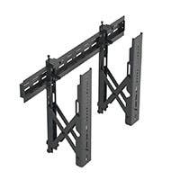 Monoprice Commercial Series Specialty Menu Board TV Wall Mount Bracket with Push-to-Pop-Out - Max Weight 99lbs, Extension Range of 2.4in to 8in, VESA Patterns Up to 600x400, Security Brackets
