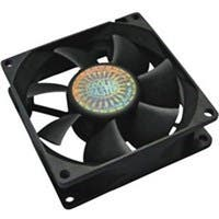 Cooler Master Rifle Bearing 80mm Silent Cooling Fan for Computer Cases and CPU Coolers - 80x80x25 mm, ~ 2000 RPM speed, ~28.9 CFM air flow, 20.9 dBA noise level, 50000 hr life, Rifle Bearing, ~ 2.2 mm