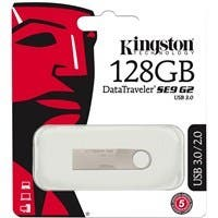 Kingston 128GB DataTraveler SE9 G2 USB 3.0 Flash Drive - 128 GB - USB 3.0 - Silver - 1 Pack