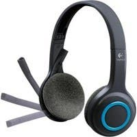 Logitech H600 Headset - Stereo - Blue, Black - Wireless - 32.8 ft - Over-the-head - Binaural - Ear-cup - Noise Cancelling Microphone