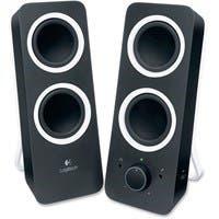 Logitech 2.0 Speaker System - Black - LED Indicator, Volume Control, Bass Control