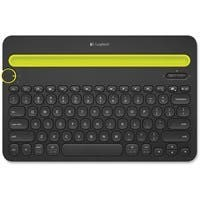 Logitech Bluetooth Multi-Device Keyboard K480 - Wireless Connectivity - Bluetooth - Compatible with Computer, Tablet, Smartphone - QWERTY Keys Layout - Black