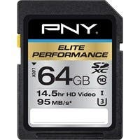 PNY Elite Performance 64 GB SDXC - Class 10/UHS-I (U3) - 95 MB/s Read