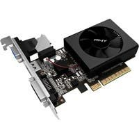 PNY GeForce GT 710 Graphic Card - 954 MHz Core - 2 GB DDR3 SDRAM - PCI Express 2.0 x8 - Low-profile - Single Slot Space Required - 64 bit Bus Width - Fan Cooler - OpenGL 4.5, OpenCL, DirectX 12 - 1 x
