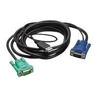 APC AP5821 KVM Cable Adapter - 6 ft - Type A Male USB, HD-15 Male VGA - HD-15 Male VGA