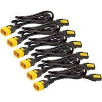 APC Power Cord Kit (6 ea), Locking, C13 to C14, 1.2m, North America - 10 A Current Rating - Black