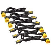 APC Power Cord Kit (6 ea), Locking, C13 to C14 (90 Degree), 1.8m, North America - 10 A Current Rating