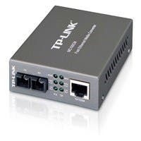 "TP-LINK MC100CM Media Converter, 10/100Mbps RJ45 to 100M multi-mode SC fiber, up to 1.2miles, chassis mountable - 1 x Network (RJ-45) - 10/100Base-TX, 100Base-FX - External"""