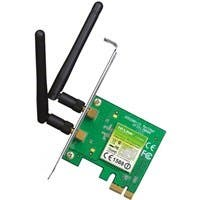 TP-LINK TL-WN881ND Wireless N300 PCI Express Adapter, 2.4GHz 300Mbps, Include Low-profile Bracket - PCI Express x1 - 300 Mbps - 2.48 GHz ISM - Internal