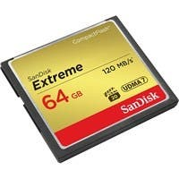 SanDisk Extreme 64 GB CompactFlash - 120 MB/s Read - 60 MB/s Write - 1 Card - 800x Memory Speed