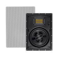 Monoprice Amber In-Wall Speakers 8-inch 2-way Carbon Fiber with Ribbon Tweeter (pair)